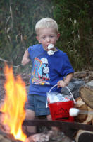 Smores At Our Nightly Campfires At Meadowbrook Resort & Dells Packages In Wisconsin Dells