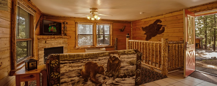 Log Cabins With Fireplaces At Meadowbrook Resort & Dells Packages In Wisconsin Dells