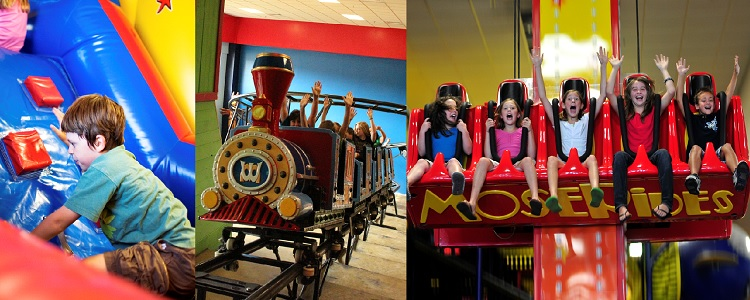 Idoor Theme Park Rides As Presented By Meadowbrook Resort & Dells Packages In Wisconsin Dells